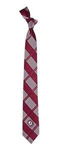 University of Alabama Men's Skinny Plaid Woven Polyester Necktie