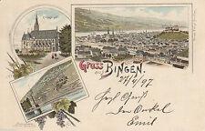 Vor 1914 Kleinformat Lithographien mit dem Thema Burg & Schloss