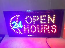 Flashing Motion Led Business ( Open 24 Hours )Sign +On/Off Switch Light Neon