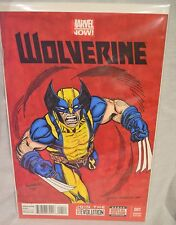 Wolverine #1B 4th Series Variant Cover Sketch Brandon Hendricks 2013 Xmen NM