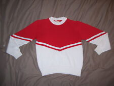 Cheerleader Sweater RED over WHITE ( Red / White )  -  Girls Size 16