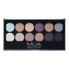 MUA Eyeshadow Palette SOLSTIZIO Smokey Oro Nudo Vino Blu Grigio Ombretto 12 PC