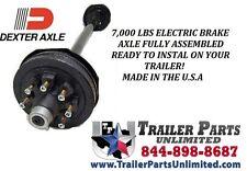 "DEXTER 7K RV Camper Trailer Electric Brake Drum Axles 7000 lb capacity 76"" Frame"