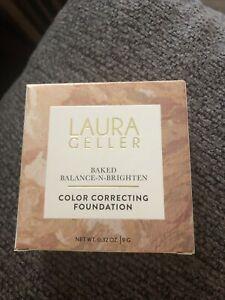 Laura Geller Baked Balance-N-Brighten Color Correcting Foundation MEDIUM NEW