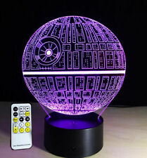 LED Changing Color Desk Table Light Lamp 3D Star Wars Night Light Death Star