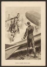 More details for ww1. french airman's brave deed - rare vintage large printed postcard