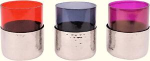 "Hoff Interieur 6296 Lanterns "" Liaison "" Glass + Metal, ø7 , 5 X 9 CM - Choice"