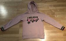 Mini Boden Girls appliqué hooded jumper, 9-10Y