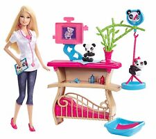 NEW IN BOX! Mattel Barbie Careers Panda Caretaker Playset - Vet, Doctor, Doll