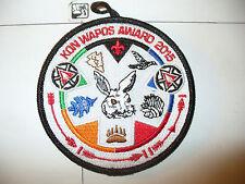 Kon Wapos Lodge 635,R-?, 2015,100th Ann OA Award Patch,pp,156,194,233,244,501,WI