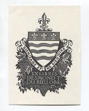 Ex Libris by Rueter for Australian collector Du Rieu