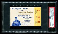 PSA 4 Baseball Ticket 1959 LA Dodgers NY Yankees Roy Campanella Tribute Night