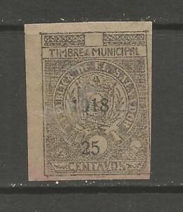 El Salvador 1918 25c revenue/fiscal stamp