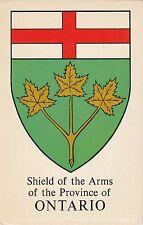Shield of Arms ONTARIO Canada Grant-Mann Heraldic Postcard