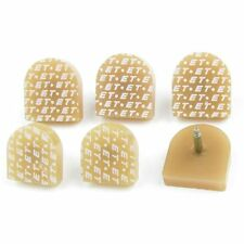 6 Pcs Beige Plastic Shoes High Heel Tips Taps 22mm x 21mm for Ladies S3Z7 H7R7