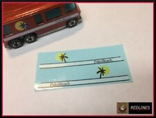 1977 Hot Wheels 'GMC Motor Home ' BLUE Reproduction Decal 9645a