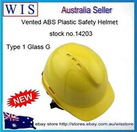 Type 1 Glass G Vented ABS Plastic Safety Helmet,6 Point Vented Hard Helmet-14203
