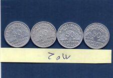 lot de 4  pieces de 50 centimes bazor 1942,1943,1944 B,1944c ALUMINIUM N°2
