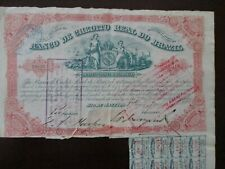 Brasil Title of shares of Banco Real of Brazil credit, 1888