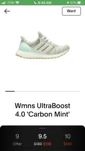 "Ultraboost 4.0 ""Carbon Mint"""
