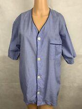 Brooks Brothers Mens V Neck Light Blue Button Down Sleepwear Tshirt Top Sz Small