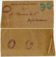 ITALIA GIORNALE Wrapper D spennatrice a Torino OVALE handstamp 1891