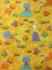 Gone Fishing 3571 Bright Fun Yellow 100% Cotton Quilting Fabric Benartex
