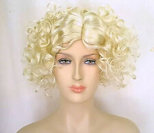 Theatrical 1920s 1930s Costume Look Quality Blonde Flapper Wig
