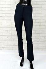 Pantalone SISLEY Donna Taglia Size 40 Woman Classic Blu Jeans Vita Alta