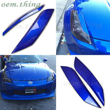 PAINTED #B17 Fit FOR NISSAN 350Z Fairlady 2D Coupe Eyelids Headlight Cover ABS