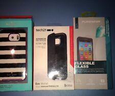 Lot Of 3pc Samsung Galaxy S6 Kate Spade Stripes , Tech 21 Flip, Puregear Guard