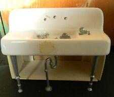 VTG Metal + porcelain sink American Miniatures Dollhouse  J Deiber