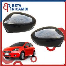 Calotte Specchietto Retrovisore Fiat Grande Punto SX e DX Effetto Carbonio 2 PZ