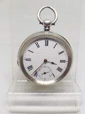 Antique solid silver gents pocket watch c1900 working ref1154
