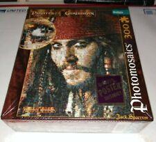 Photomosaics NEW 300 Pcs PIRATES OF THE CARIBBEAN JACK SPARROW Puzzle W/POSTER