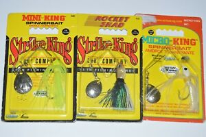 3 lures strike king spinnerbait 1/4oz 1/8oz 1/16oz assortment mini rocket shad