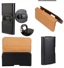 For iPhone 8+ Plus 6+ 7+ Black Leather Belt Clip Pouch Case Cover For Tradesman