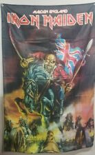 Iron Maiden HUGE  cloth banner 1988  MAIDEN ENGLAND 5 ft. x 3 ft.