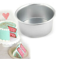 2/4/6/8'' Aluminum Alloy Round Cake Pan Tins Baking Mould Bakeware Tray  R Tn RU