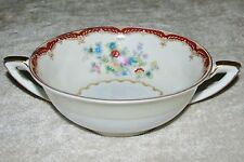 Versailles China (Japan) VE3 Ivory Floral w/ Red Band Gold Trim CONSOMME BOWL