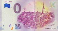 BILLET 0  EURO  TALLINN ESTONIE 2018  NUMERO 1000
