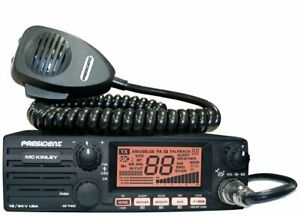 President McKinley USA 40 Channel CB Radio AM/SSB/PA 12/24V Weather Compact New