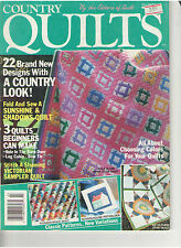 COUNTRY QUILTS MAGAZINE 1990 FABRIC DEBATE BABY QUILTS SCRAPS HEIRLOOM TIPS