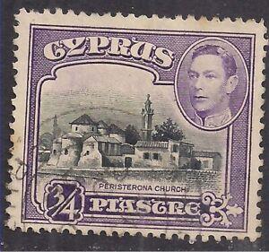 Cyprus 1938 - 51 KGV1 3/4pi Peristerona Church used SG 153 ( H1227 )