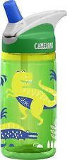 CamelBak Insulated Water Bottle Eddy Kids Dinosaur Dino Sports Travel .4L Green