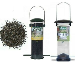 NIGER FEEDER - (Standard / Metal) - Supa Wild Bird Nyjer Seed Holder bp Finch