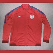 USA Soccer Nike Dri-Fit Revolution Strike Knit Stretch Training Jacket XL Red