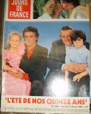 Jours de France N° 1466 5 février 1983 L'été de nos 15 ans Michel Sardou Télé