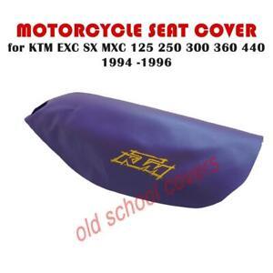 Motorrad Sitzbezug KTM EXC SX MXC 125 250 300 360 440 1994 -96 Lila Gelb