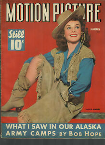 Motion Picture Jan1943 Paulette Goddard Cover...